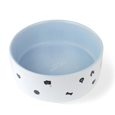 Ruff Life Ceramic Dog Bowl