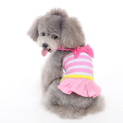 Bow Stripe Cruise Dog Dress