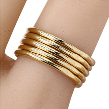 5 Gold Band Stack Ring Set - Costume Jewelry