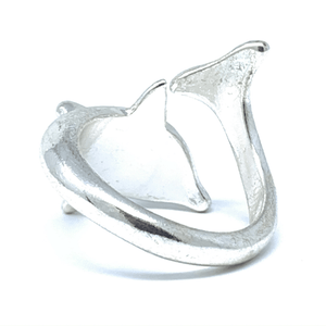Adjustable Dolphin Wrap Silver Ring - Dolphin Ring