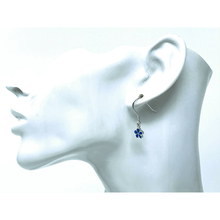 Blue Opal Plumeria Flower Earrings - SeaSpray Jewelry