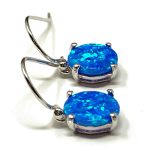 Blue Opal Round Sterling Silver Earrings - SeaSpray Jewelry