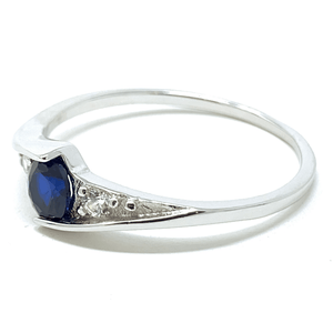 Blue Sapphire .925 Sterling Silver Ring For Women - Fashion Jewelry