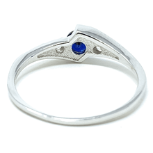 Blue Sapphire Solitaire .925 Sterling Silver Ring For Women - Fashion Jewelry