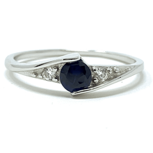 Blue Solitaire Sapphire .925 Sterling Silver Ring For Women - Fashion Jewelry