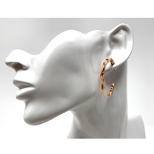 Brown Resin Circle Hoop Women's Earrings
