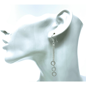 Chandelier Sterling Silver Open Circle Earrings