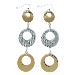 Circle Gold Plated Sterling Silver Earrings - SeaSpray Jewelry