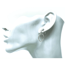 Circle Hoop Sterling Silver Stud Link Earrings - SeaSpray Jewelry