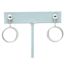 Dancing Link Open Circle Sterling Silver Earrings - SeaSpray Jewelry