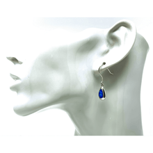 Dangle Blue Opal Sterling Silver Earrings - SeaSpray Jewelry