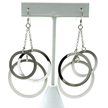 Dangle Open Circle Sterling Silver Earrings - SeaSpray Jewelry