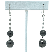 Double Ball Dangle Sterling Silver Earrings - SeaSpray Jewelry