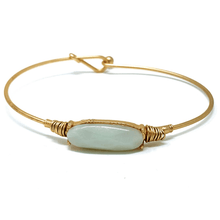 Natural Stone Gold Stacking Bangle Bracelet For Women - Fashion Jewelry