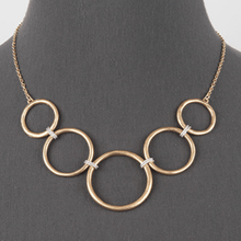 Gold Chain Open Circle Link Necklace - Women's Fashion Statement Jewelry