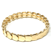 Gold Disc Stacking Stretch Bracelet - Costume Jewelry