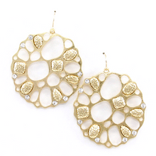 Gold Disc Dangle Earrings - Fashion Jewelry