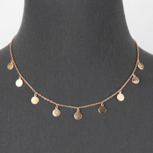 Gold Multi Disc Coin Charm Necklace - Minimalist Costume Jewelry For Women