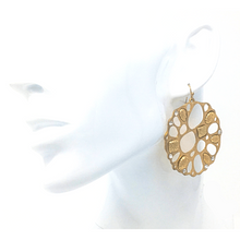 Gold Disc Dangle Earrings - Statement Jewelry