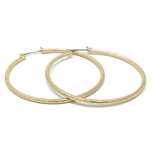 Gold Sand Blast Texture Hoop Earrings For Women - Fashion Jewelry