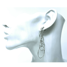 Graduated Sterling Silver Circle Earrings - SeaSpray Jewelry