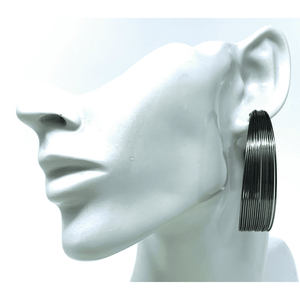 Hematite Large Stud Earrings For Women