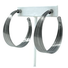 Hematite Stud Hoop Earrings For Women