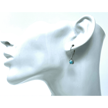 Larimar Sterling Silver Lever Back Earrings