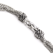 16 inch Layered Silver Chain Necklace with Pearl Accents - Closure - Women's Fashion Jewelry