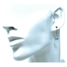 Lever Back Sterling Silver Larimar Earrings