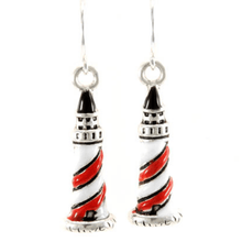 Lighthouse Silver Dangle Nautical Earrings - Fashion Jewelry