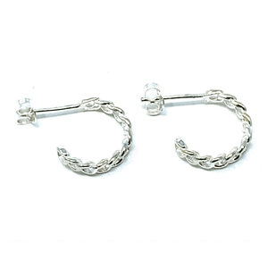Half Hoop Link Earrings - Stud Earrings