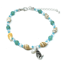 Mermaid Turquoise Beaded Shell Anklet