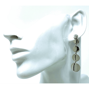 Multi Circle Disc Stud Sterling Silver Earrings - SeaSpray Jewelry