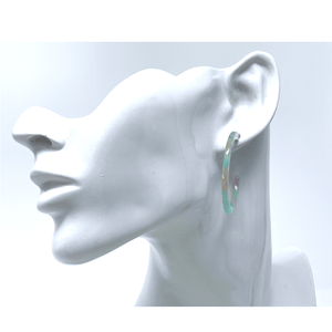 Multi Color Resin Circle Hoop Women's Earrings