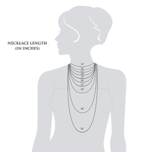 Women's Fashion Necklace Sizing Chart Jewelry