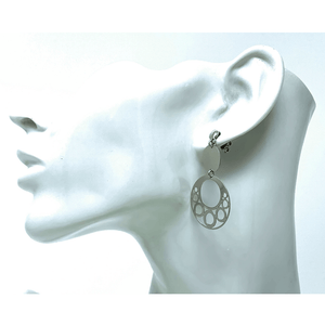 Sterling Silver Open Circle Stud Earrings - SeaSpray Jewelry