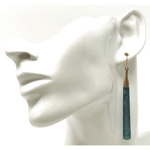 Patina Bar Dangle Rustic Earrings For Women - Costume Jewelry
