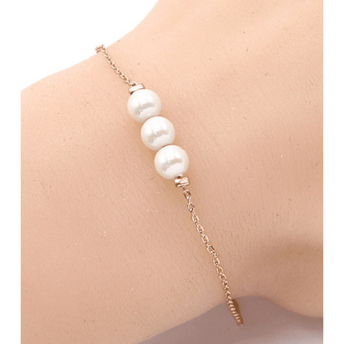 Gold Pearl Bracelet - Fashion Jewelry - Bracelets For Women