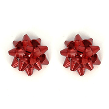 Red Bow Stud Christmas Earrings - Christmas Jewelry