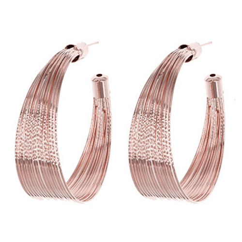 Large Rose Gold Hoop Earrings For Women