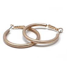 Worn Rose Gold Hoop Earrings - Fashion Jewelry