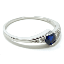Round Solitaire Blue Sapphire  .925 Sterling Silver Ring For Women - Fashion Jewelry