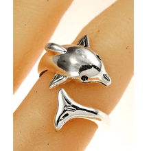 Adjustable Dolphin Wrap Silver Ring - Dolphin Jewelry