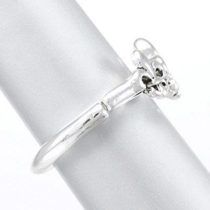 Silver Fleur De Lis Stretch Ring For Women - SeaSpray Jewelry