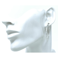 Silver Hammered Hoop Earrings For Women - Costume Jewelry