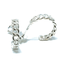 Sterling Silver Link Half Hoop Earrings - SeaSpray Jewelry
