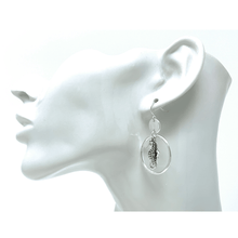 Silver Seahorse Circle Hoop Dangle Earrings For Women - Fashion Jewelry