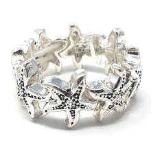 Silver Starfish Stretch Ring - Costume Jewelry