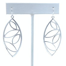 Silver Teardrop Leaf Modern Dangle Earrings For Women - Costume Jewelry